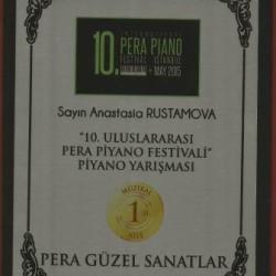 Настя диплом Турция